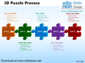 3 d puzzle pieces connected jigsaw powerpoint diagrams and