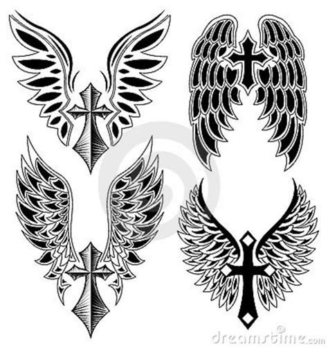 wings tattoos page 37 cross with wings set of cross and wings tattoo
