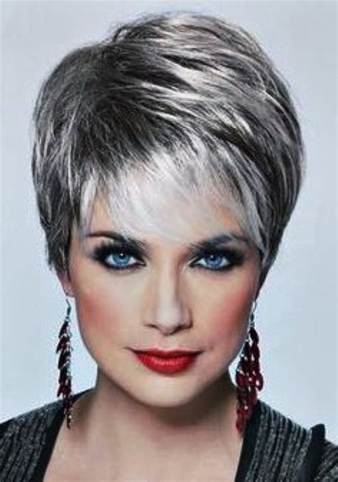 pictures of short hairstyles for over 60 with thin fine hair short back view haircut pictures for women over 60