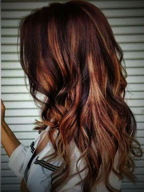 hairstyles blonde and red highlights blonde highlights on dark red hair www pixshark com