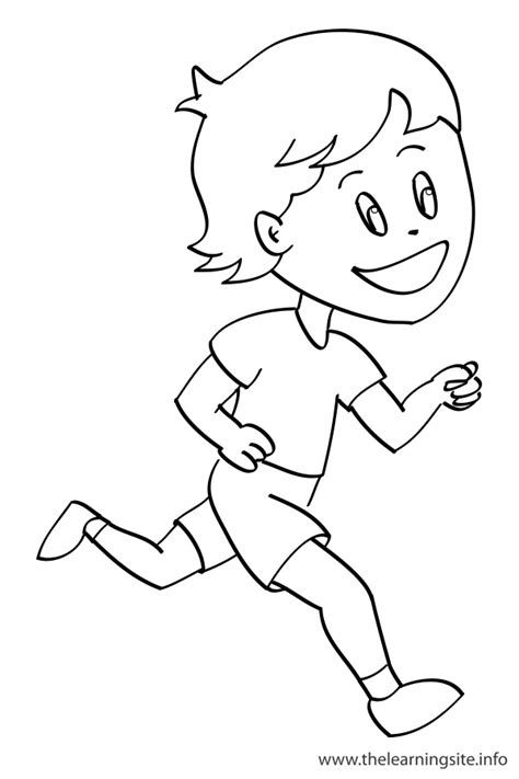 coloring pages of a person running free coloring pages of action verbs