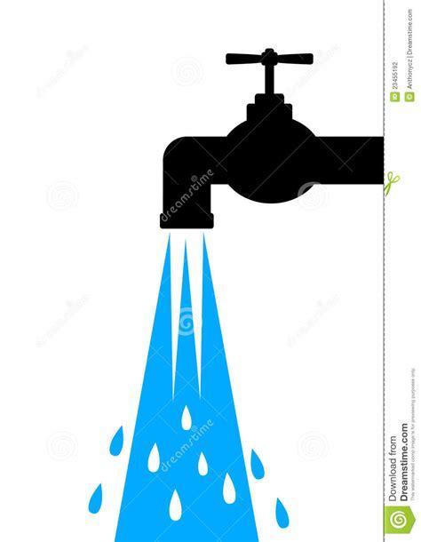 Dripping Kitchen Faucet pictogram van kraan stock fotografie afbeelding 23455192