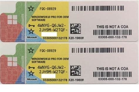 Windows 10 Pro Original Licence Key Serial Number Murah original windows 10 professional pro license coa sticker