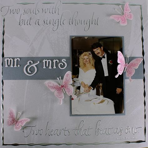 wedding layout images mr and mrs wedding scrapbook layout favecrafts com