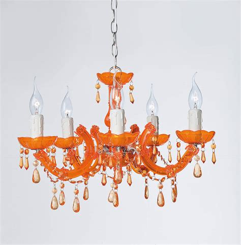 Orange Chandeliers Orange Baroque Style Chandelier By I Retro Notonthehighstreet