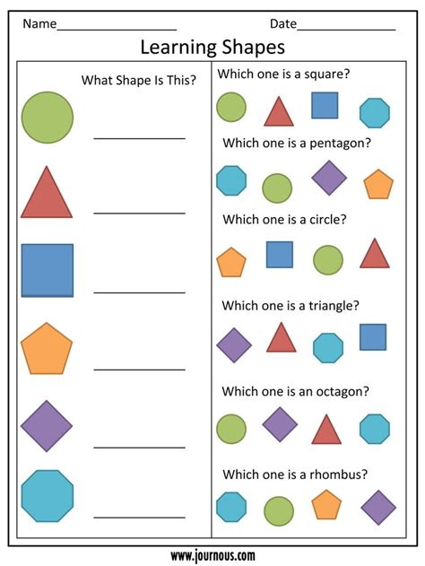 printable number shapes preschool worksheet learning shapes numbers shapes