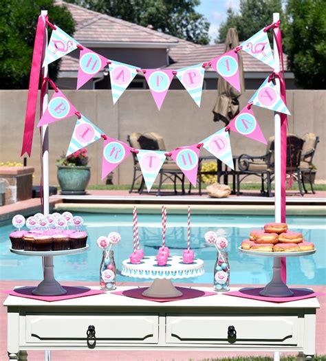 Kara's Party Ideas Pink Flamingo Pool Party   Kara's Party Ideas
