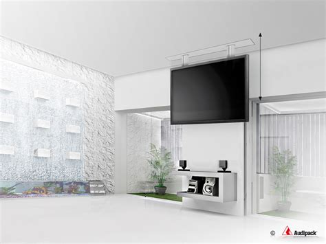 Tv Ceiling Lift Systems by Vertical Electric Ceiling Lift Up To Aprox 50 Quot Audipack