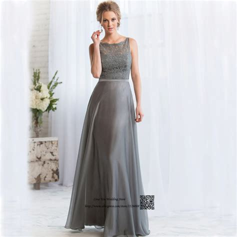 Imported Laceta Dress aliexpress buy gray bridesmaid dresses lace backless wedding guest wear gowns