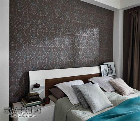 schlafzimmer tapete loft charakter mit den elaganten ornamenten als