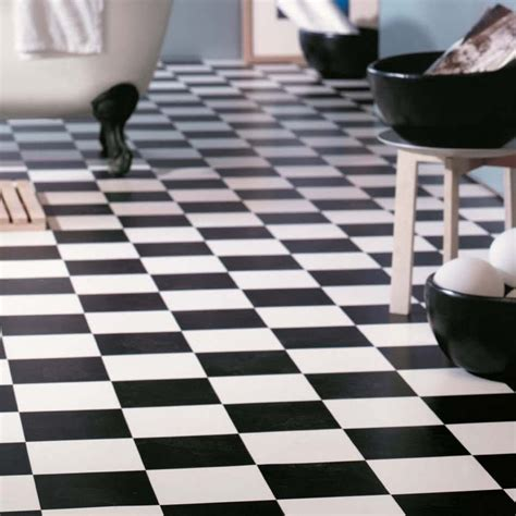 Black And White Vinyl Sheet Flooring by Cushion Vinyl Sheet Flooring Black White Chequerboard