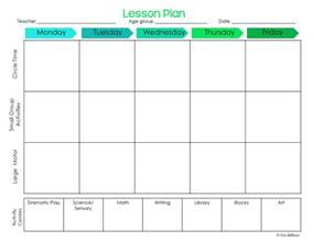 how to make a lesson plan template in word preschool ponderings make your lesson plans work for you