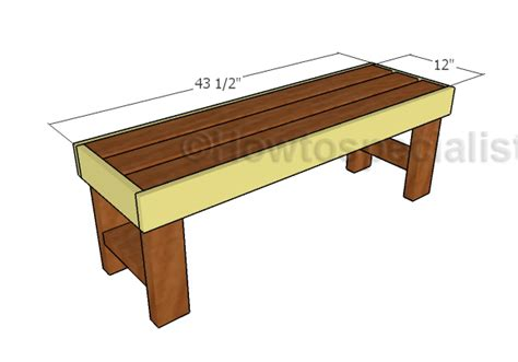simple 2x4 bench plans 2x4 easy to build bench plans howtospecialist how to