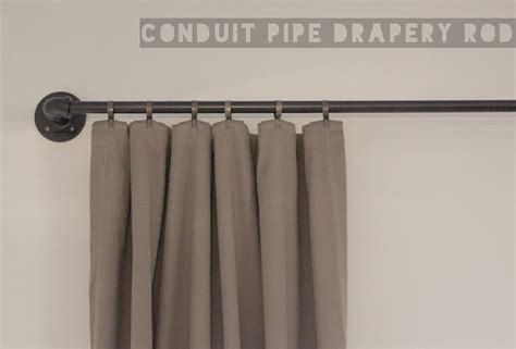 pipe curtain rod ador conduit pipe drapery rod