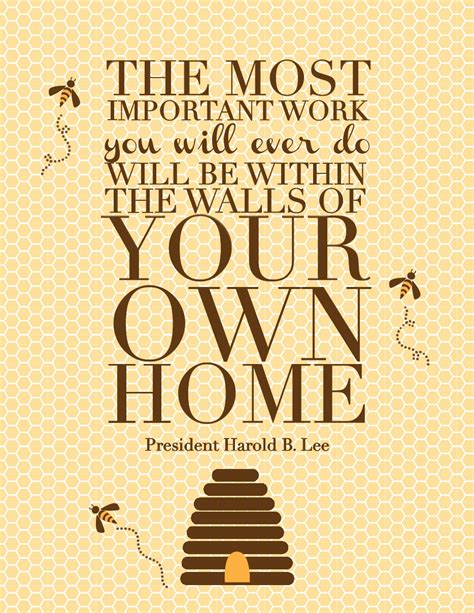quotes about building a home harold b lee quote the red headed hostess