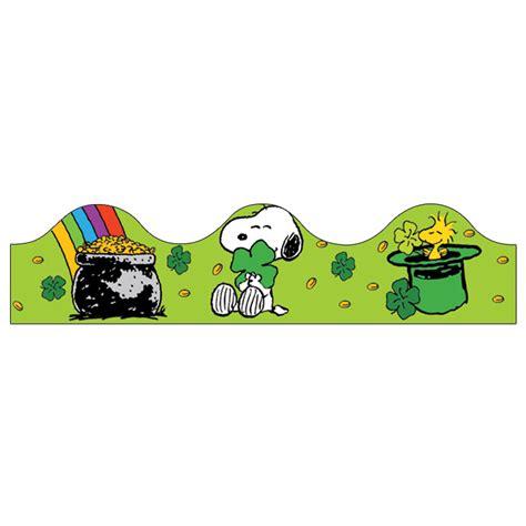 St Snoopy Stripe peanuts st s day bulletin board trim eureka school