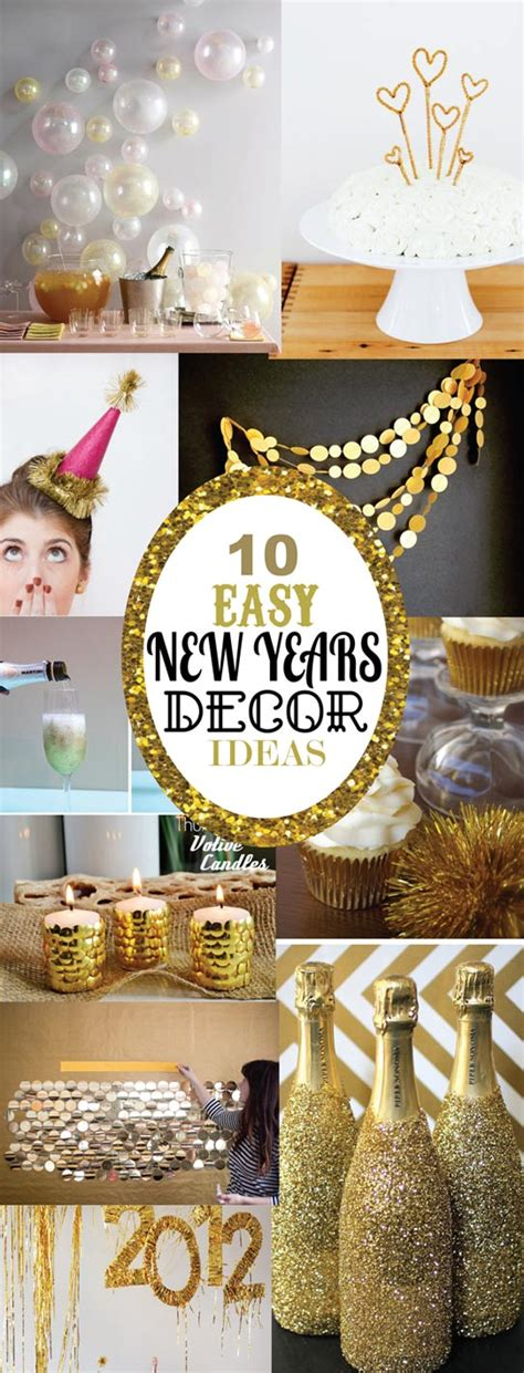 new year home decoration ideas 10 easy new years decorating ideas sohosonnet creative