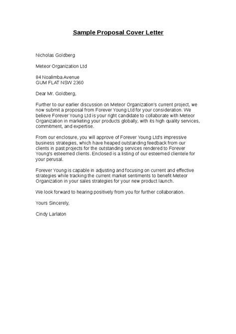 for bid cover letter for bid bid cover letter sle
