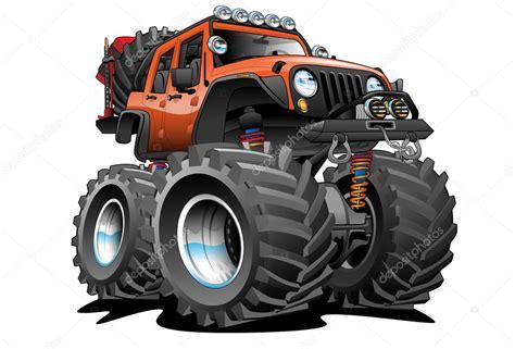 jeep cartoon offroad 4x4 off road jeep cartoon illustration stock vector