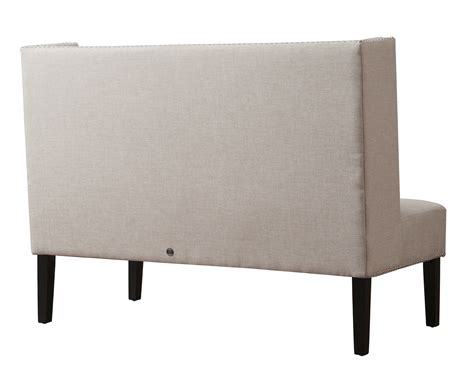 linen banquette halifax beige linen banquette bench from tov tov 63114