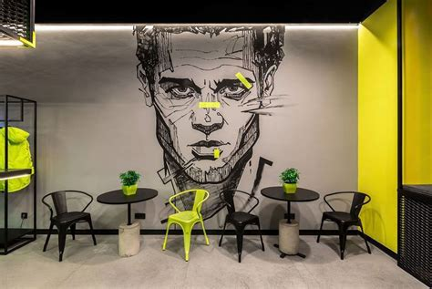 mural  interior graffiti ebsh  behance