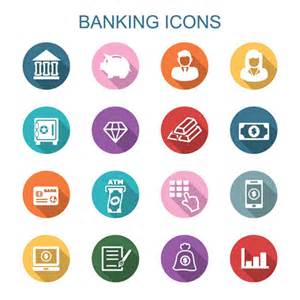 finance and banking flat icons vector business icons
