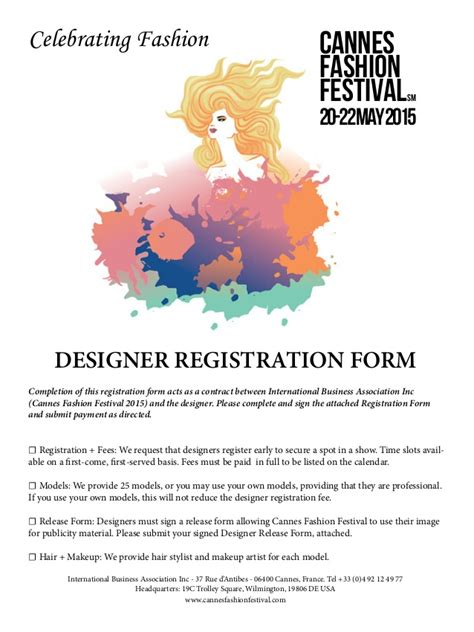 fashion designer contract template fashion festival designers contract 1