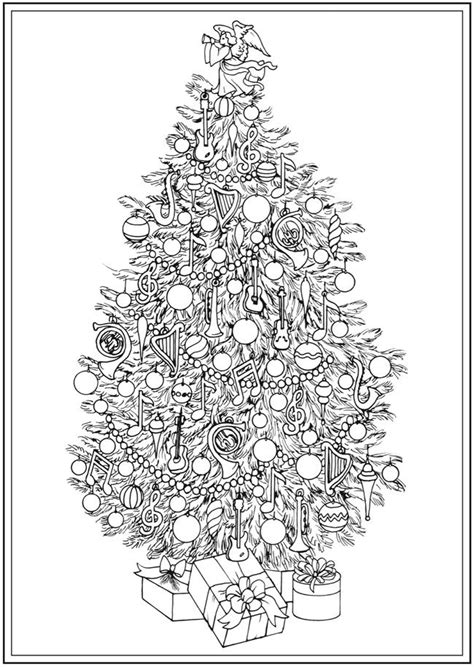 christmas tree coloring page for adults 1694 best coloring pages holiday images on pinterest