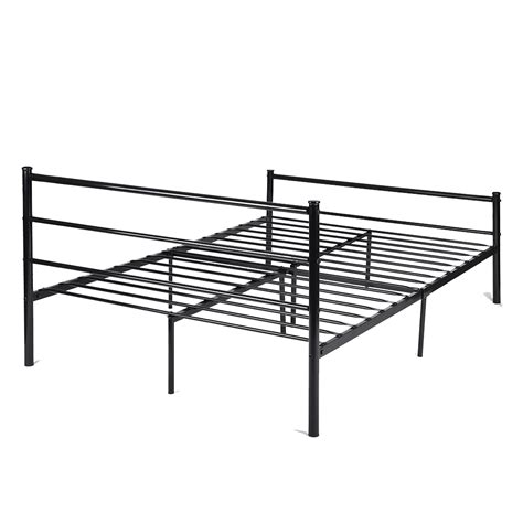 full size metal platform bed frame platform metal bed frame foundation headboard furniture