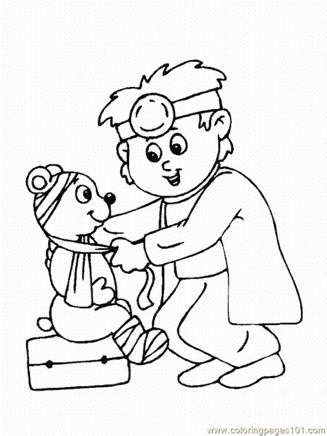 coloring pages doctor hospital coloring page 27 peoples