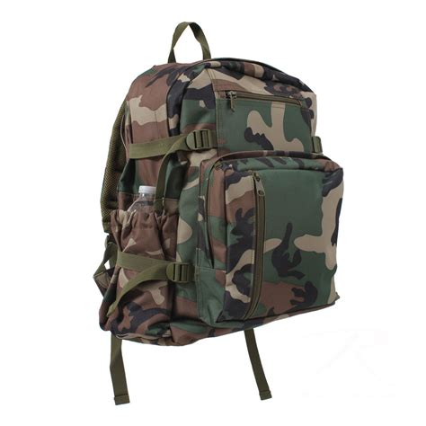 Camouflage Backpack rothco woodland camo backpack book bag ebay