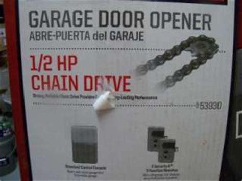 Craftsman 1 2 Hp Chain Drive Garage Door Opener With 2 Craftsman Garage Door Opener 1 2 Hp Chain Drive Model