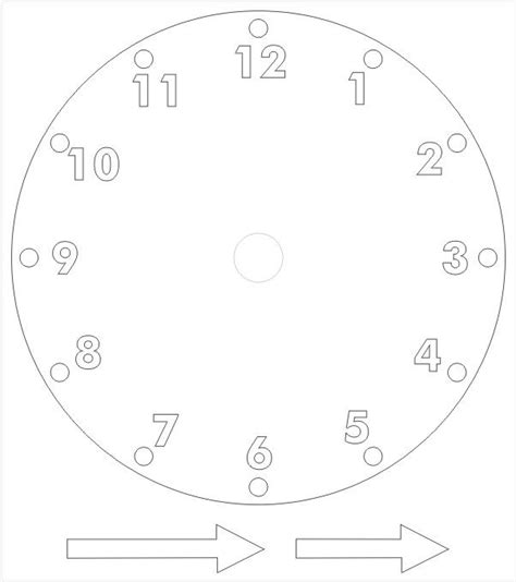 printable clocks to make printable paper clock template crafts ideas for kids
