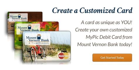 make your own debit card mount vernon bank trust company your personal banking