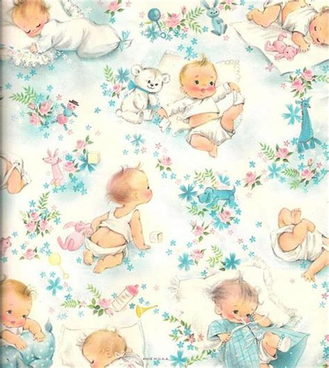 printable wrapping paper baby vintage baby shower giftwrap i love this piece of
