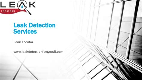 Leak Detection Services Plumbing Leak Detection Services Fort Myers Fl