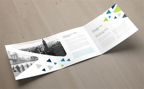 30 Really Beautiful Brochure Designs Templates For Inspiration Square Trifold Brochure Template