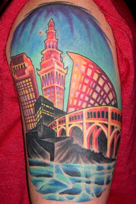 cleveland skyline tattoo designs cleveland skyline