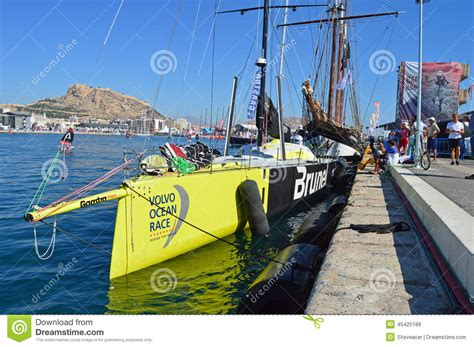 volvo the world yacht race brunel volvo racing yacht editorial stock image