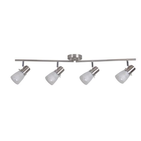 Track Lighting Lowes by Portfolio 4 Light Stainless Steel Fixed Track Light Kit
