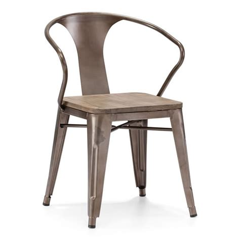 Modern Metal Dining Chairs Helix Dining Chair Moss Manor A Design House