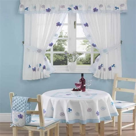 Kitchen Curtains Blue And White Curtain Menzilperde Net Blue And White Kitchen Curtains