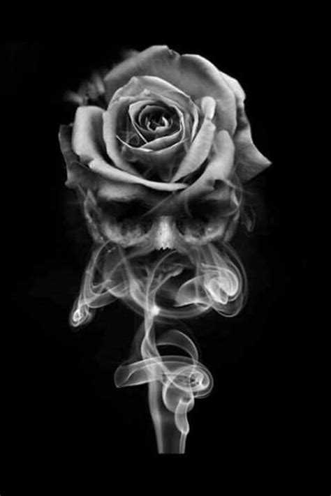 smoke skull rose skulls pinterest smoking tattoo