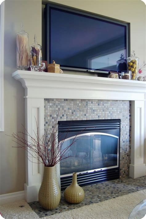 Tv Above Fireplace Mantel by 33 Shades Of Green Decorating Around The Tv