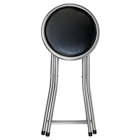 Foldable Stool With Back by 57 Folding Kitchen Stool Black Sturdy Plastic Durable