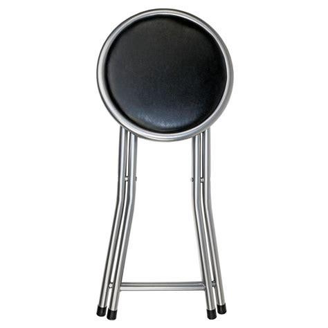 Folding Sport Seat Stool by Black Padded Folding Breakfast Kitchen Bar Stool Seat 163 9