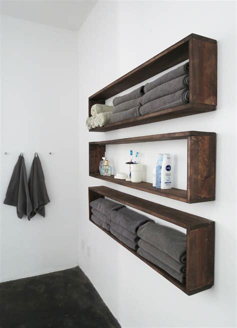 Diy Wall Shelves In The Bathroom Tutorial Diy Wall How To Hang Bookshelves