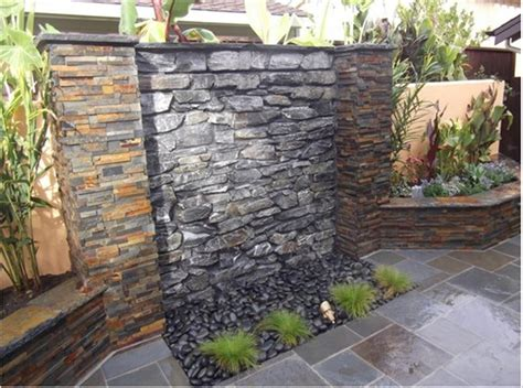 outdoor waterfall wall i am so building one of these