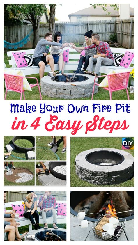 Step By Step Build Your Own Pit The Garden Hose Diy4ever Build Pit Tutorial Step By Step