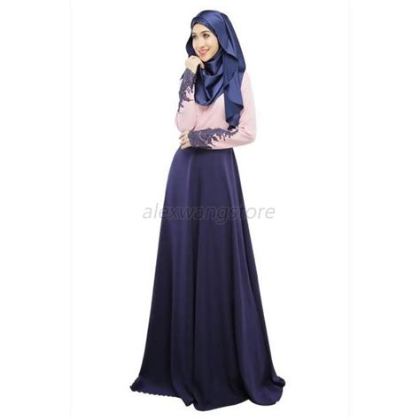 Dress Muslim Maxi Dress Wanita Annita Maxi kaftan abaya jilbab islamic muslim arab sleeve cocktail maxi dress ebay